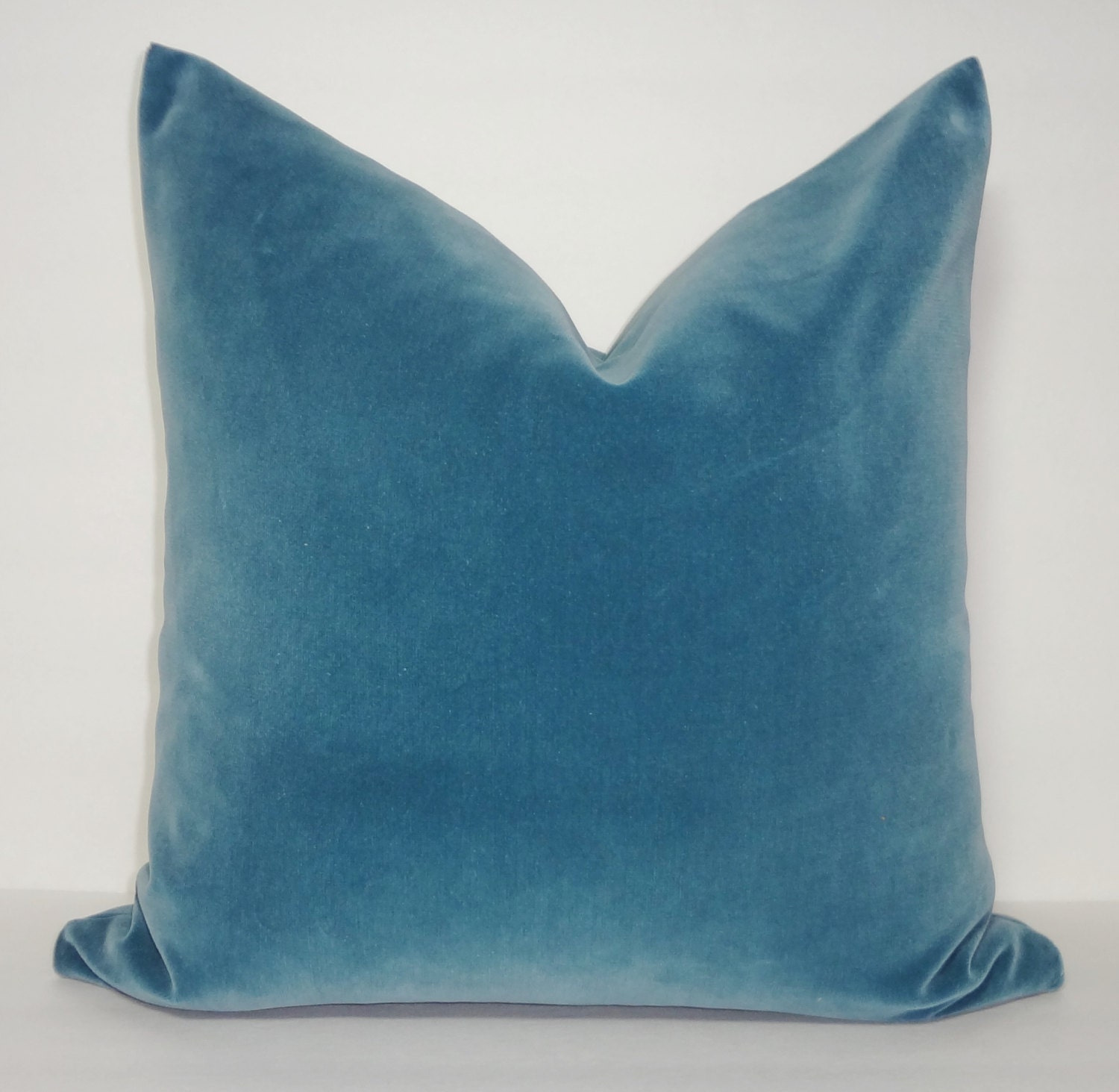 Blue Velvet Decorative Pillow : JB Martin Light Teal Blue Velvet Decorative Pillow Cover Heavy
