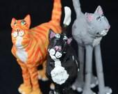 Three Little Cats.  Fabric Sculpture