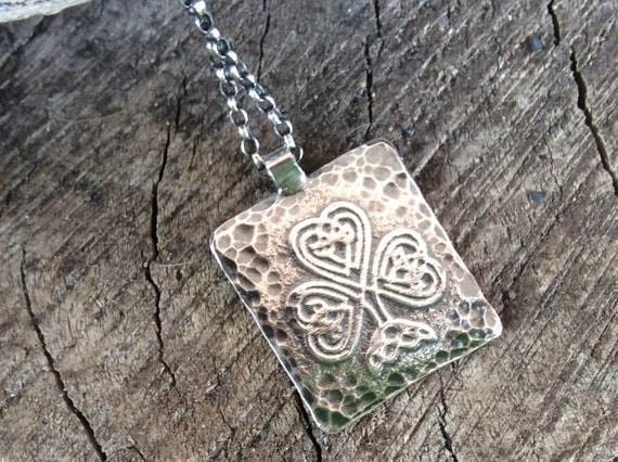 Luck of the Irish- Sterling silver shamrock pendant