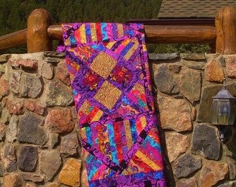 PURPLE PASSION      -Kaffe Collective inspired one of a kind quilt