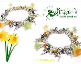 The Beltane Faerie Charm Bracelet - Spring Fairy