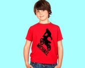 Dirt Bike Youth Shirt or Bodysuit With Personalized Name