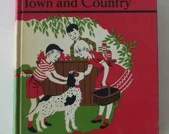 vintage textbook, Town and Country, Teacher's Edition, 1957 from Diz Has Neat Stuff