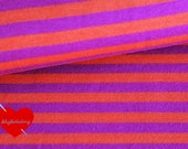 0,5 m stripes jersey knit organic cotton elastane GOTS certified purple orange