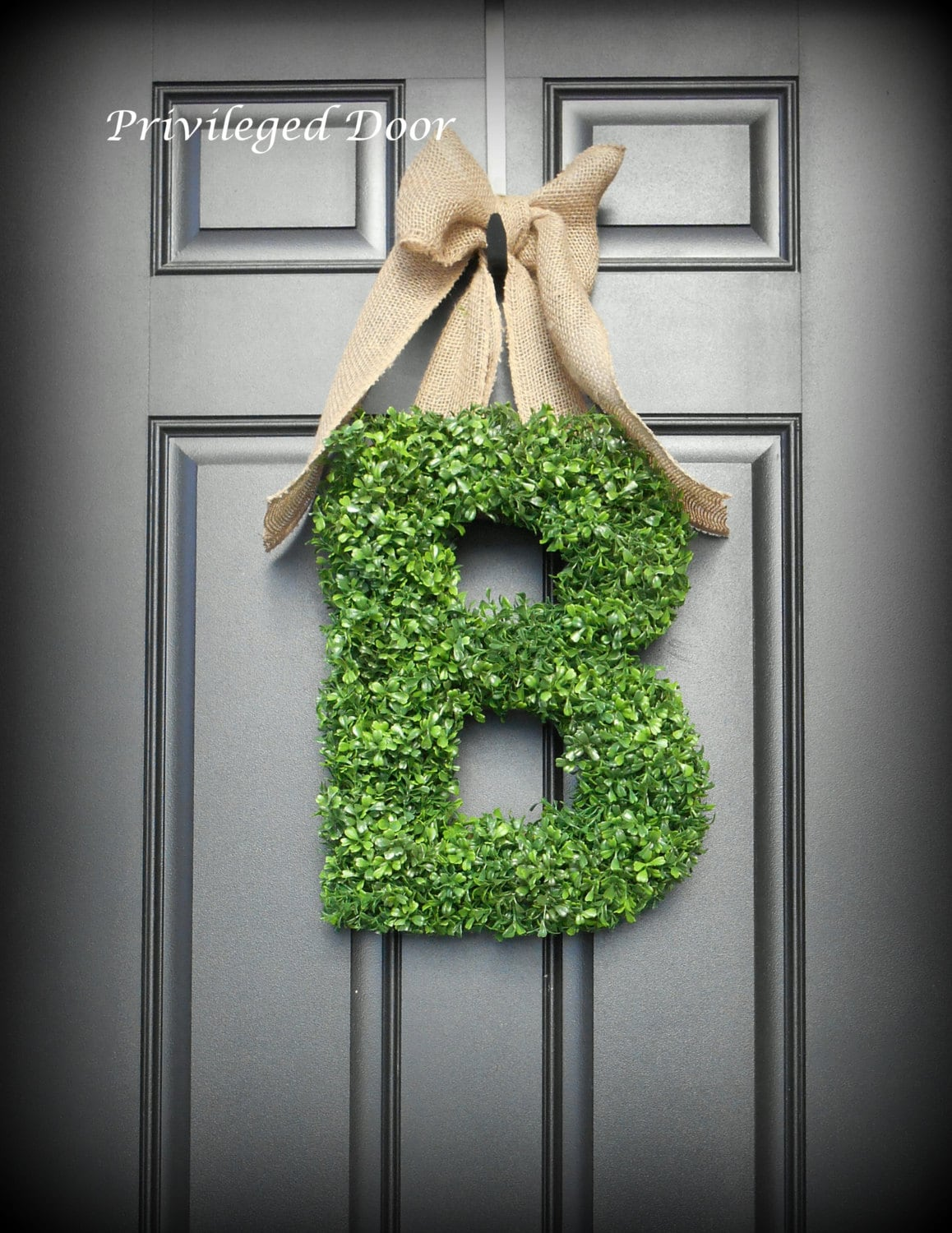 letter wreath xl faux boxwood wreath boxwood by With letter wreaths for sale