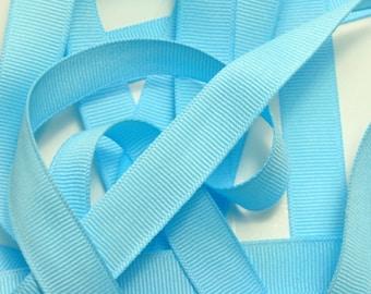"5/8"" Grosgrain Ribbon - Light Blue - Sewing Trims"