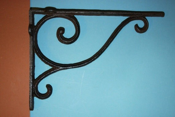 6 Pcs Elegant Design Shelf Brackets Cast Iron Shelf By