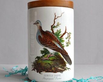 "SALE! Portmeirion ""Birds of Britain"" Jar - Turtle Dove - England"