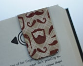 Magnetic Bookmark, Beard Respect, Mustache, Manly Bookmark, Plaid