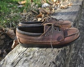 Vintage Genuine Leather Moccasin Loafers