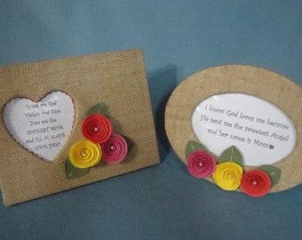 Flowers for Mom - Framed Message