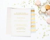 Classic Gold Foil Wedding Invitations - Set of 12