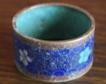 antique cloisonne chines enamel work napkin ring