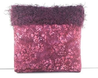 SALE ITEM/ Mauve and Pink Junior Handbag / Small Batik Bag / Girls Purse