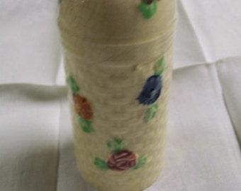 Vintage Hatpin Holder Handpainted Ceramic Made in Japan 1940s