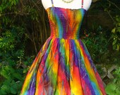 Colorful Summer Dress with smoked top