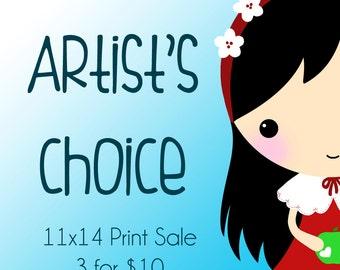 Print Sale! 3 for 1 Artist's Choice