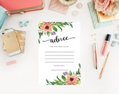 Instant Download - Sweetest Shower Advice Cards