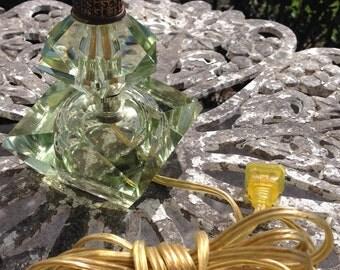 Vintage Celadon Green Glass Lamp