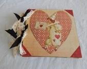 Vintage Style Valentine Chipboard Album 6x6