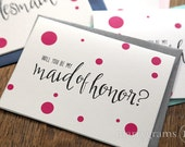 Will You Be My Bridesmaid Cards - Maid of Honor, Wedding Party- Card Gift Asking Bridesmaids, House Party, Bridesman, Flower Girl (Set of 8)