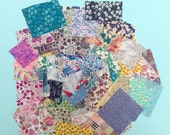 REDUCED Liberty print scrap grab bag, small scraps, random scrap collection, scrap quilt