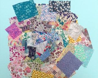 Liberty print scrap grab bag, small scraps, random scrap collection, scrap quilt