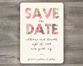 Modern Typography Save the Date, Printable Save the Date Without a Photo
