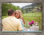 Save The Date Photo Calendar, Engagement Photo Save The Date, Printable Save The Date