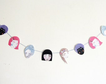 Pretty Girls Garland - printable pdf project