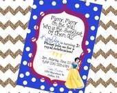 Snow White Digital Invitation - Girls Birthday Party, Princess Party, Baby Shower - Printable Invite