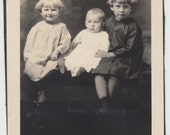 1935 Vintage/Antique photo of three cute sisters