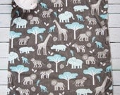 Blue Jungle Minky Baby Blanket