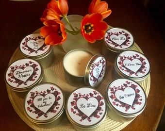 Valentine's Day Massage Candles