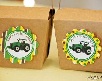 Tractor Birthday Party 2 Inch Thank You Circles, Instant Download, Printable, Digital