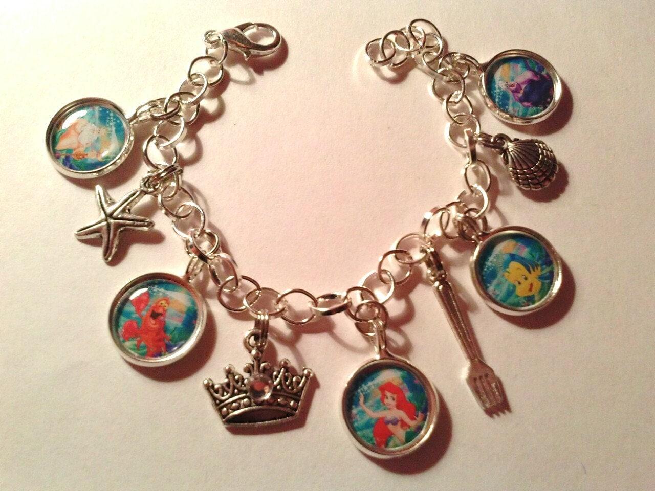 mermaid charm bracelet ariel ursala easter birthday