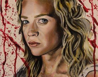 """Walking Dead - ANDREA - Art Print/Reproduction - 10""""x12"""""""