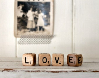 Vintage Letter Cubes LOVE