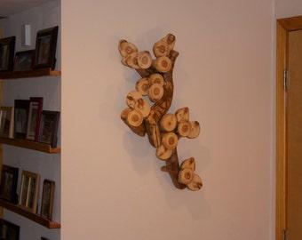 Tree branch sculpture - Modern rustic decor - Wall sculpture - Wood art -