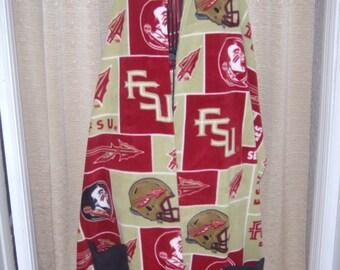 FSU Blanket Pocket Wrap/Shawl/Scarf pockets fleece extra long extra wide
