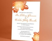 Wedding Invitations Candy Flower Blossoms, Watercolor Imagery, Bright and Fun Invitations Perfect for Spring and Summer Weddings and Parties