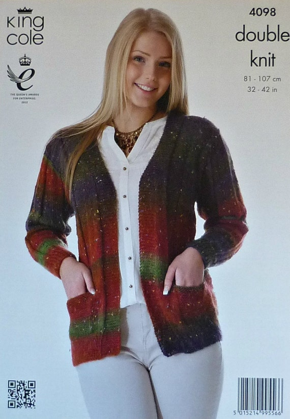 Knitting Pattern For Ladies Cardigan With Pockets : Womens Knitting Pattern K4098 Ladies Long by KnittingPatterns4U