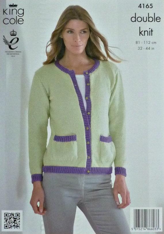 Womens Knitting Pattern K4165 Ladies Long Sleeve Cardigan with
