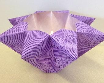 Hand-painted Origami-folded Large Purple Luminary