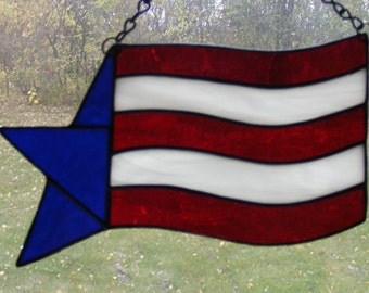Stained Glass Suncatcher - Stars and Stripes - Flag