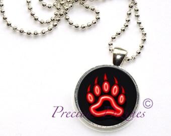 Beautiful Bear print Pendant Necklace