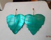 BEAUTIFUL Shell Turquoise Leaf Earrings Boho, Southwestern, Native, Nautical, Gypsy, Little Mermaid, Ocean, Great Gift Ready to Ship