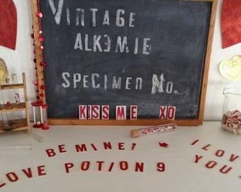 Vintage Sign Maker LOVE Letters Letter Press