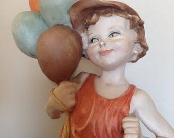 Guiseppe Armani Italy Capodimonte Boy with Balloons Figurine