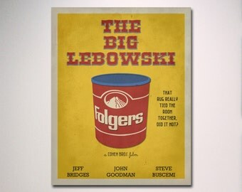 The Big Lebowski Minimalist Movie Poster